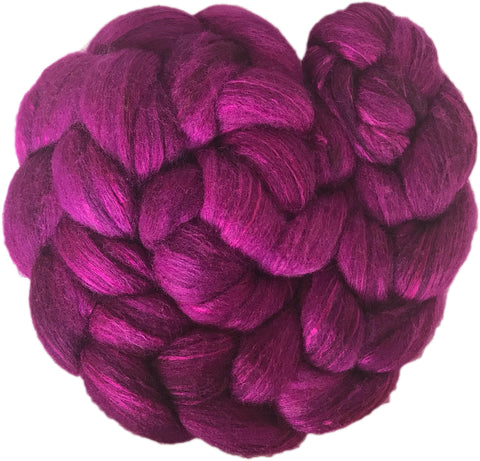 Merino and Silk Sliver  - Mulberry