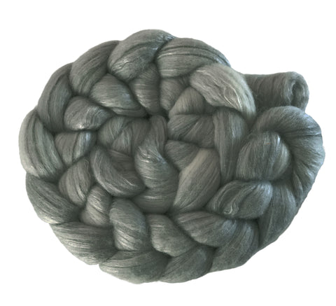 Merino and Silk Sliver  - Pewter