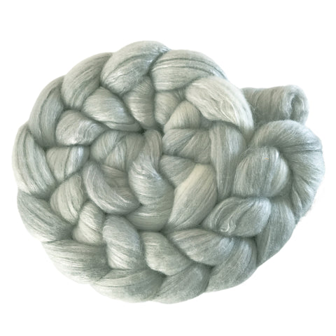 Merino and Silk Sliver  - Silver