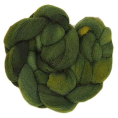 Fine Merino Sliver - Apples Greens