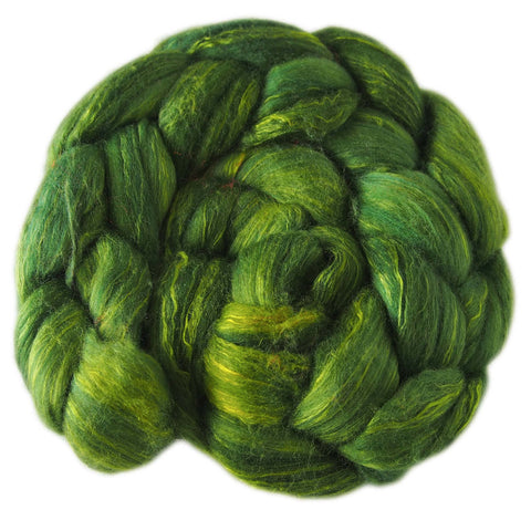 Merino and Silk Sliver  - Apples Greens