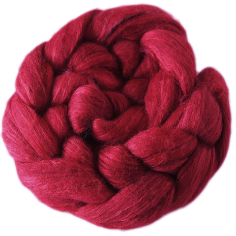 Merino and Silk Sliver  - Apples Reds
