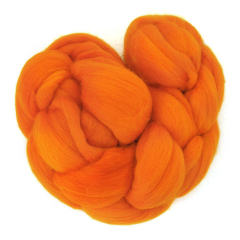 Fine Merino Sliver - Autumn Orange