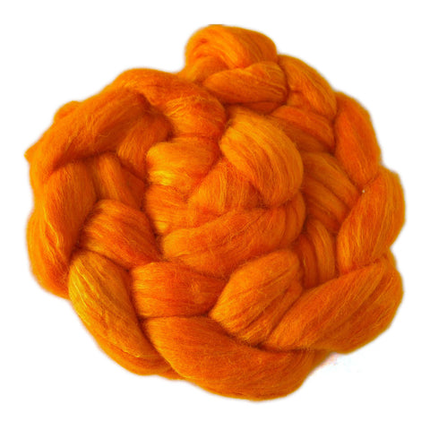 Merino and Silk Sliver  - Autumn Orange