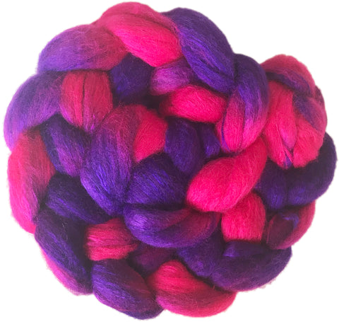 Merino and Silk Sliver  - Berries