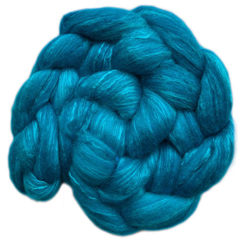 Merino and Silk Sliver  - Bright Blue