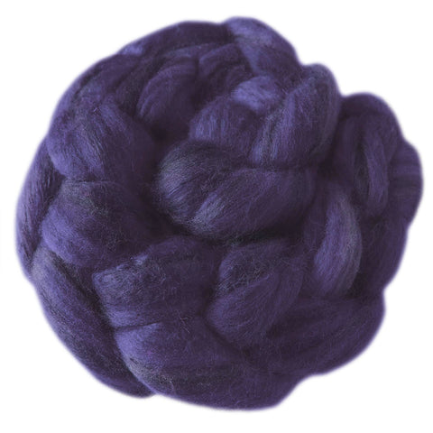 Merino and Silk Sliver  - Deep Purple