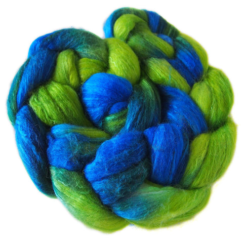 Merino and Silk Sliver  - Delphinium