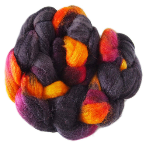 Merino and Silk Sliver  - Embers