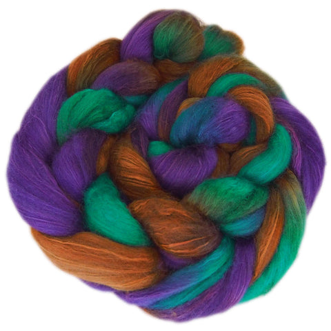 Merino and Silk Sliver  - Forest Stream