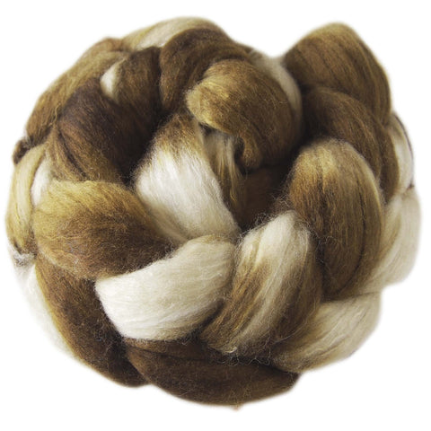 Merino and Silk Sliver  - Mink