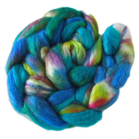 Merino and Silk Sliver  - Paua