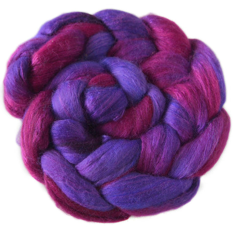 Merino and Silk Sliver  - Purples