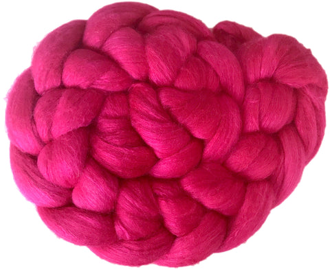 Merino and Silk Sliver  - Raspberry