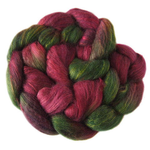 Merino and Silk Sliver  - Red Delicious