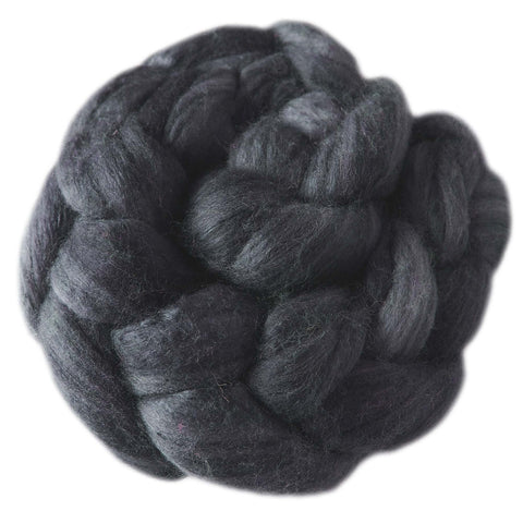 Merino and Silk Sliver  - Soot