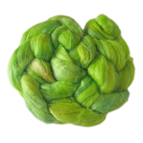 Merino and Silk Sliver  - Spring Greens