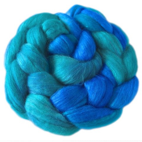 Merino and Silk Sliver  - Tropical Waters