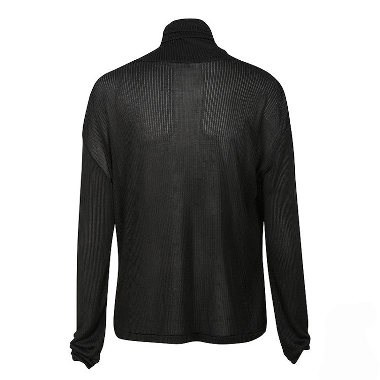 MOONLIGHT SILK SKIVVY - Black