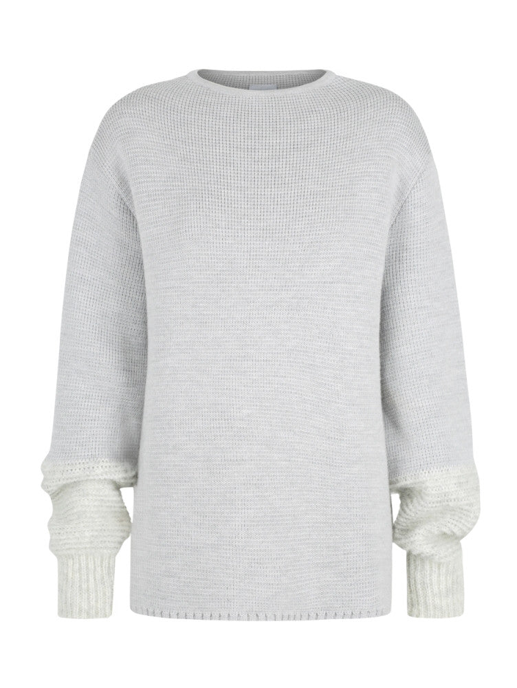 MADELINE MOHAIR WOOL JUMPER - Dove Grey