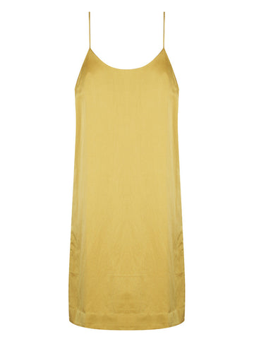 DJANGO BACKLESS SILK SLIP – MUSTARD