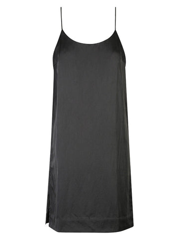 DJANGO BACKLESS SILK SLIP - Black