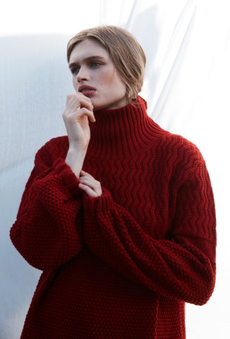 CHLOE WOOL JUMPER - Red