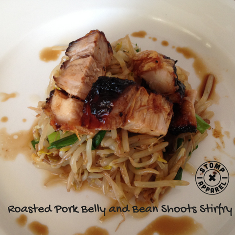 Roasted Pork and Bean Shoot Stirfry