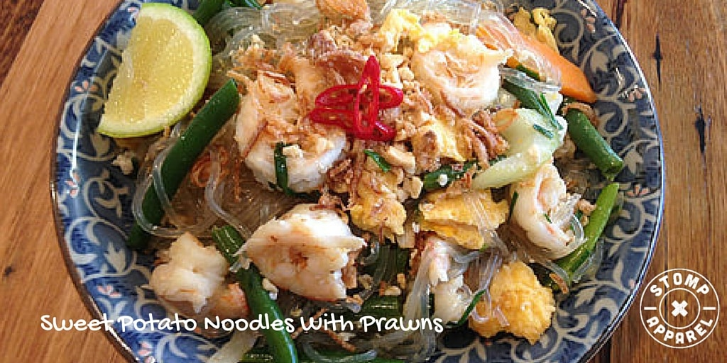 Sweet Potato Noodles With Prawns