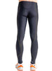 Men's Lite Compression Pants Black Rear Modelled