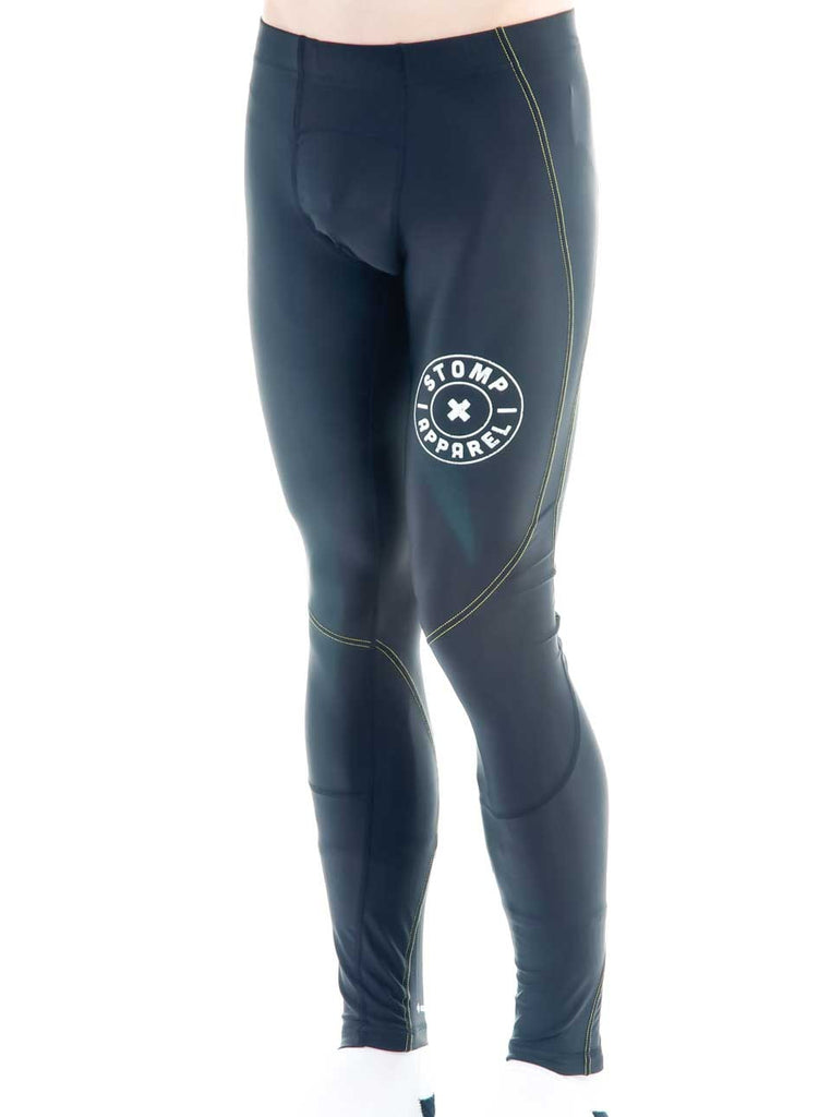 Men's Lite Compression Pants Black Front Side Modelled