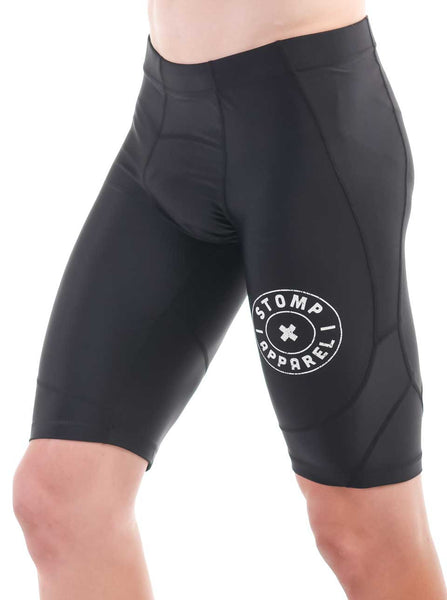 Men's Lite Compression Shorts Black Front Side Modelled