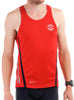 Men's Sports Singlet Front Red Modelled
