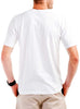 Men's Cotton T-Shirt White Rear Modelled