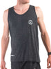 Men's Light Singlet Front Black Modelled