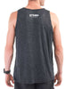 Men's Light Singlet Rear Black Modelled