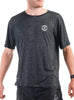 Men's Light T-Shirt Front Black Modelled