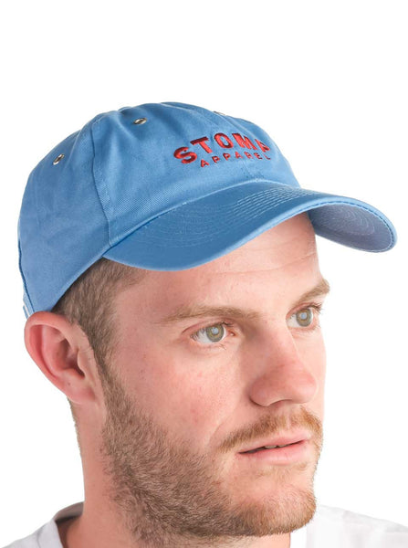 Long Island Cotton Cap Blue Front Modelled