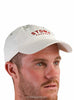Long Island Cotton Cap Cream Front Modelled