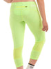 Women's 3/4 Leggings Rear Lime Modelled