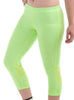Women's 3/4 Leggings Front Lime Modelled