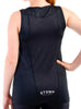 Women's Sports Traditional Singlet Rear Black Modelled