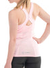 Women's Sports Y Strap Singlet Rear Pink Modelled