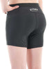 Womens Yoga Shorts Extended Leg Rear Black Modelled
