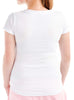 Women's Cotton T-Shirt Rear White Modelled