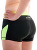 Womens Yoga Shorts Rear Black Lime Modelled