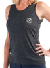 Women's Light Singlet Front Black Modelled