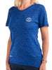 Women's Light T-Shirt Front Blue Modelled