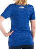 Women's Light T-Shirt Rear Blue Modelled