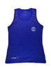 Women's Light Singlet Front Blue